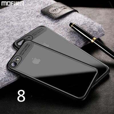 MOFI Phone Case for iphone 8 case cover MOFi original Soft edge Hard transparent back case clear for iphone8 i8 simple capa coque funda