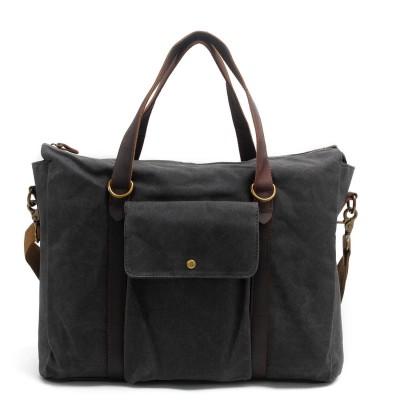 2017 New Retro Vintage Canvas Leather School Briefcase Military Travel Crossbody Shoulder Bag Messenger Bags Laptop Portfolio