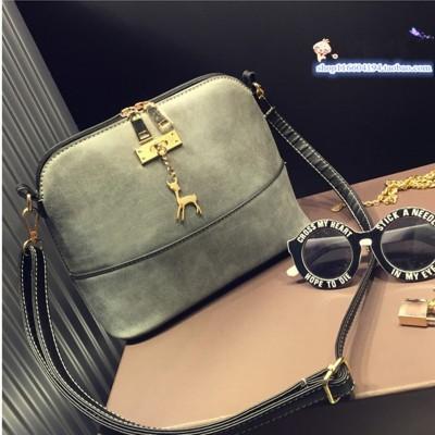 Magic Birds Vintage Nubuck Leather Women Bags Fashion Small Shell Bag Women Shoulder Bag Winter Casual Crossbody Bag 40PCSlot