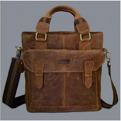 Famous Brand Crazy Horse Genuine Leather handbag Vintage Fashion men shoulder messenger bags Business Briefcase Available for A4