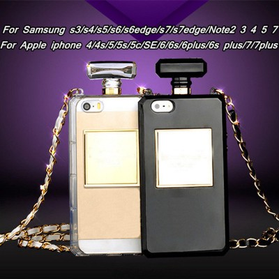 Brand Cosmetic Perfume Bottles TPU Soft Case for iPhone 5s SE 6 6s 7 8 Plus X Phone Case for Samsung s4 s5 s6 s7 note8