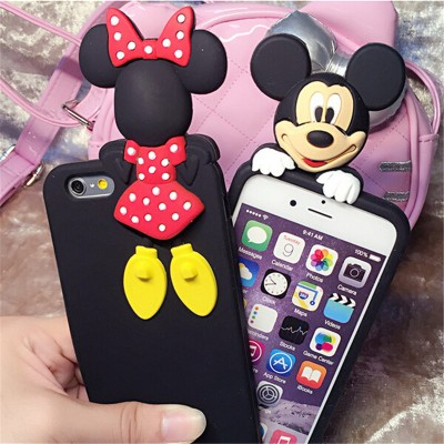 cartoon phone cases Luxury Phone Cases For Iphone 6s 6 Plus 5 5s Fashion cartoon 3D mouse cartoon   Mouse rat Back Cover Case Edge phone case cartoon cases