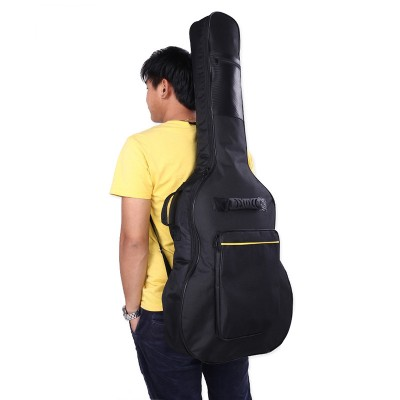 High quality black violin guitar bag case for 4041 inch guitar 600 d fabric waterproof guitar bag Shoulder Straps Pockets