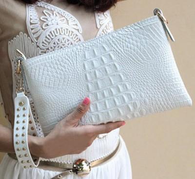 2017 Fashion Brand Leather Alligator Day Clutch Women Handbag Envelope Bag Wrist Evening Bag Casual Crossbody Shoulder Bag Bolso
