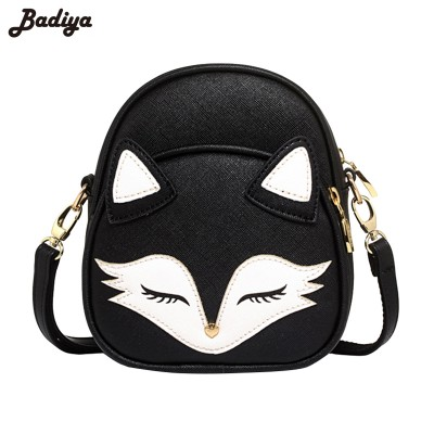 Female Animal Shoulder Bags Fox Print Handbag Fashion Mujer Bolsas Women New PU Leather Shoulder Bags Vintage Travel Handbags