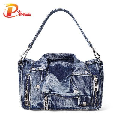 Vintage Denim Shoulder Handbags Designer Denim Handbags Casual Women Messenger Bags Jean Bags Womens Purses Hobo Travel Tote Cross Body Bag