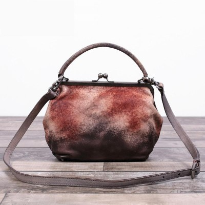 Vintage Genuine Leather Handbag Women Shoulder Bag Designer Retro Style Head Layer Cowhide Purse Female TOTES Bolsas Femininas