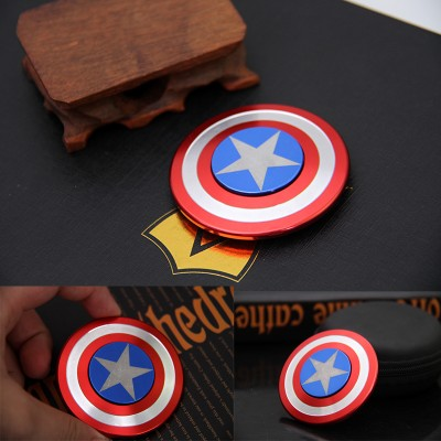 Finger Fidget Toys 2017 New Fidget Toy Hand Spinner Metal Finger Stress Spinner Captain America Shield Fidget Toys for Children Fidget Toys for Adults