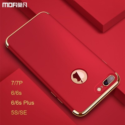 Phone Cases For iphone MOFi For iphone 5s case for iphone 7 plus case Red for iphone 7 case SE cover for iphone 6s plus cover capa coque funda luxury