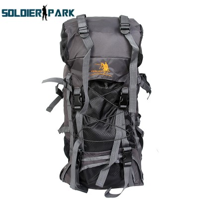 lightweight hiking backpack 60L High Capacity Outdoor Sports Backpack Nylon Waterproof Heavy Duty Ergonomic Adjustable Backpack Hiking waterproof hiking backpack
