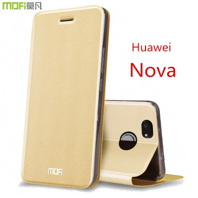 MOFi Case for Huawei nova cover MOFi original Huawei nova case cover nova filp case full cover funda hoesje leather holder filp cover