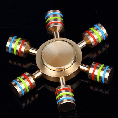 Finger Fidget Toys Rainbow Fidget Spinner Metal Finger Spinner Hand Spinner Brass For Autism Adult Anti Relieve Stress Toy Spiner Fidget Toys for Children Fidget Toys for Adults