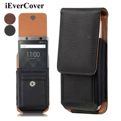 Blackberry Keyone Case Premium Vertical Leather Case Holster Cover w/ Swivel Belt Clip for Blackberry KEYone DTEK70 Mercury DTEK60 DTEK50 Pouch Bag