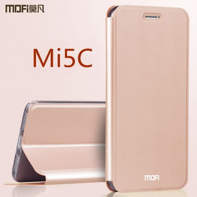 Xiaomi mi 5c case cover MOFi orignal full cover pu xiaomi mi5c flip case housing kickstand holder xiaomi 5c leather case