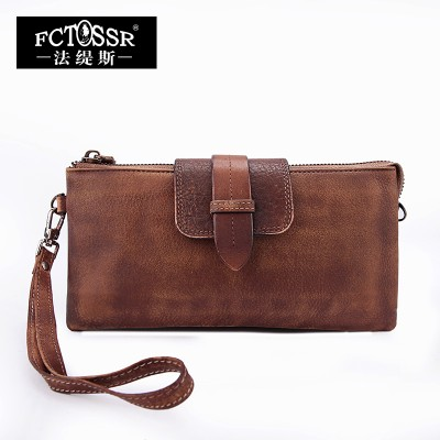 2017 Women Wallet Handmade Vintage Leather Clutch Bag Genuine Leather Bag Small Bag