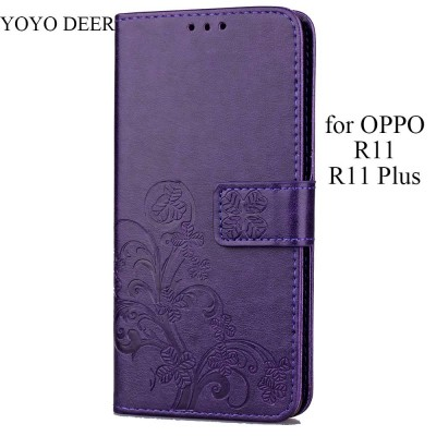 Phone Case For OPPO R11 Plus Case Luxury PU Leather Back Cover Phone Case for OPPO R11/ R11 Plus Case Flip Protective Wallet Type