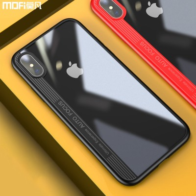 MOFI Phone Case For iphone x case cover for iphonex case ultra clear accessories for Apple x edition case hard transparent back case soft edge
