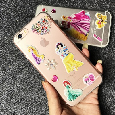cartoon phone cases For iPhone 6 Case Super Beautiful Mermaid Cartoon Princess Glitter 3D Cute Phone Case For iPHONE 6S 6 PLUS 6S PLUS 7 7 PLUS cartoon cases