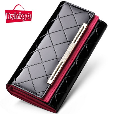 BVLRIGA Brand bag wallet designer wallets famous brand women wallet 2017 high quality cluth bag long purse credit card holder