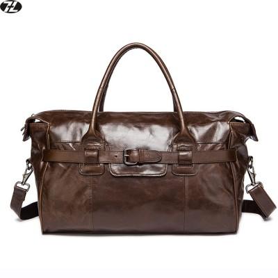 really cowhide men travel bag genuine leather business bag handbags men messenger duffel bag brown men shoulder crossbody bags