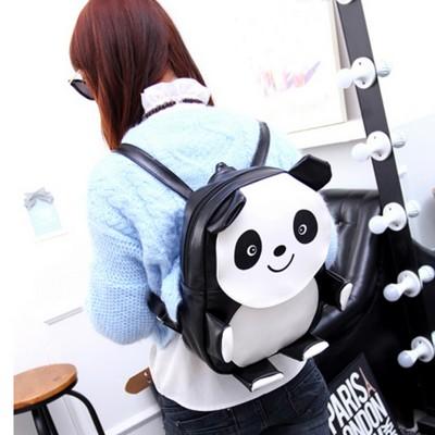 fashion cute Panda teenager girls Backpack mochali preppy panda leather bag elephant Backpack women new brand backpack blosas