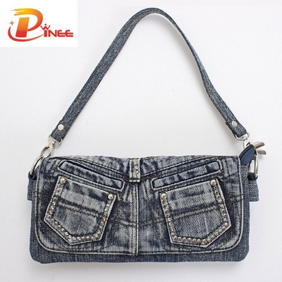 Vintage Denim Shoulder Handbags Casual Lady Handbags Designer Denim Small Shoulder Bag For Girls Leisure Messenger Bags