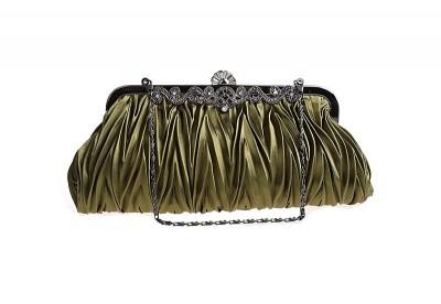 Bag Chain Strap Quality Satin Hobos Women Solid Hasp Soft Evening Bags Bolsas Feminina Lady Party Day Clutch Hand