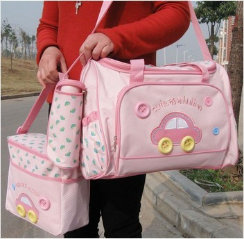 4PCSSet High Quality Tote Baby Shoulder Diaper Bags Durable Nappy Bag Mummy Mother Baby Bag