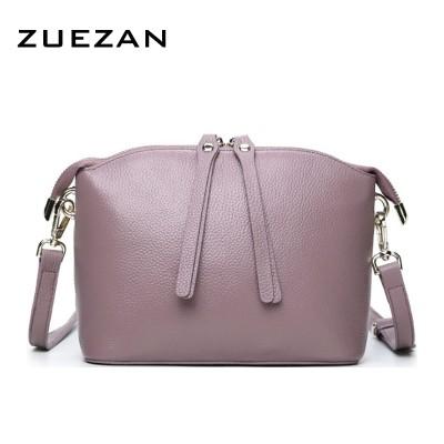 New Shell Messenger Bag Women Genuine Leather handbag Real Skin COWHIDE Shoulder bag Fashion Crossbody BAGS for GIRLS A177