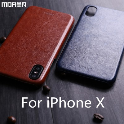 "MOFI phone case For iphone x cover For iphonex case leather PU thin Mofi for iphone x""case luxury case For Apple X Edition accessories brown"