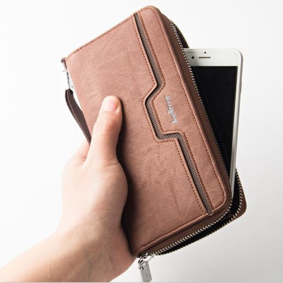 Unique Mens Wallet Design Hollow Men Wallet Casual Purse Male Vintage Clutch Wallets Long Business Mens handbags Mens clutch bag