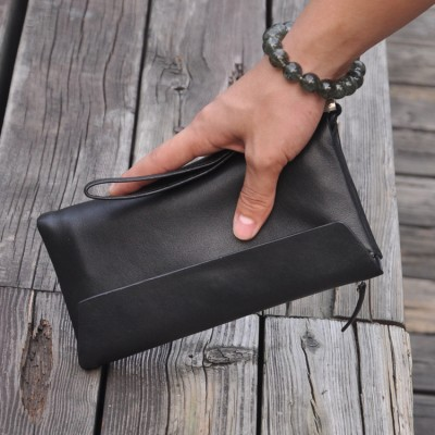 Brand Genuine Genuine Real Leather Men Wallets Business Card holder Coin Purse Men's Long Zipper Wallet Leather Clutch 3016
