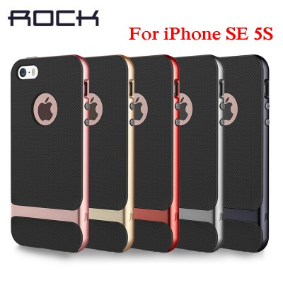 ROCK Case for iPhone SE 5S 5 Silicone Case PC + TPU Armor Cover Case for IPhone 5S SE Case on sales
