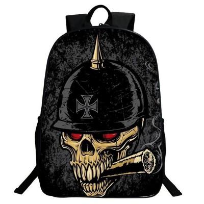 Gothic Backpacks 2017 New Gothic Punk Skull Backpack 3D Printing Vintage Teenager Student Backpack Schoolbag Large Women Men Nylon Rucksack Bag