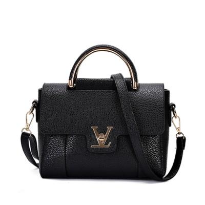 Hot Flap V Women's Luxury Leather Black Clutch Bag Ladies Handbags Brand Women Messenger Bags Sac A Main Femme 2017 Short Handle
