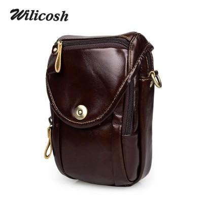Famous Brand Men Messenger Bags 100% Genuine Leather Multifunction Chest&waist Packs Camera Bag Men's Travel esporte Bags WL174