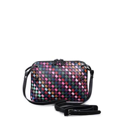 NEW 2017 Luxury Sheepskin Knitting Handmade Shell Crossbody Bag Women Genuine Leather Handbags Ladies Messenger Bag an322