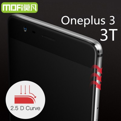 oneplus 3 tempered glass MOFi original oneplus 3T screen protector oneplus 3t glass full cover white black accessories 5.5 inch