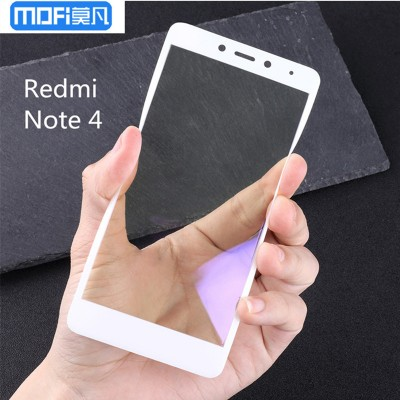 Xiaomi redmi note 4 glass screen protector redmi note 4 tempered glass 3D soft edge curved full cover white anti blue ray glare