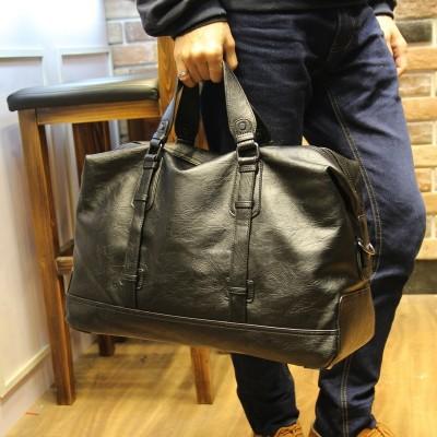 High Quality PU Leather Men's Travel Bags Large Capacity Men Messenger Bags Travel Duffle Handbags Men's Shoulder Bags