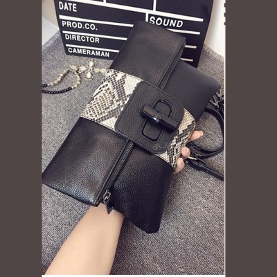 Sexy Bag 2017 Hot sale Brand New Women's Synthetic Leather Snake Skin Envelope Bag Sexy Luxury Day Clutches Purse Evening Bags