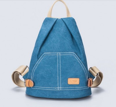 Vintage Women's Small Mini Backpack Casual Canvas Rucksack Travel Knapsack Bag