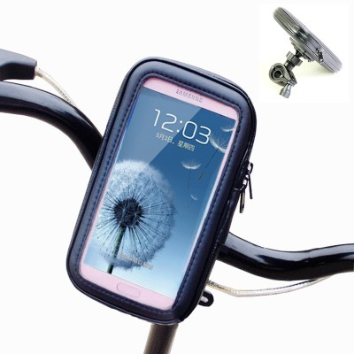 Bike Bicycle Motorcycle Phone Pouch Waterproof Case Bag Handlebar Mount Holder for Samsung i9300 Galaxy SIII 4.8inch Cell Phones