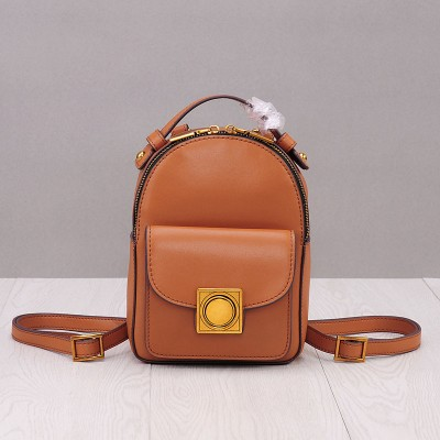 2017 Genuine Leather Mini Backpack Women Solid Bag Backpack High Quality Backpacks For Teenage Girls