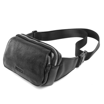 Leather Fanny Pack Wide Strap New Black Leather Fanny Packs Fashion Waist Bum Bag Travel Work Shoulder Bag