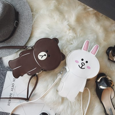 fashion new brand womens crossbody bag ladies shoulder bag purse phone coins bag cute rabbit bear shape wholesale