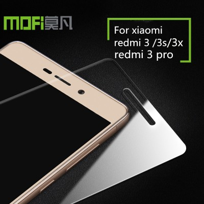 xiaomi redmi 3s glass MOFi original redmi 3 tempered glass redmi 3 prime pro screen protector film  redmi 3x accessories 5.0inch