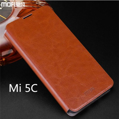 Xiaomi mi5c case cover Mi 5C flip case PU leather kickstand holder MOFi original xiaomi mi 5c capa coque funda housing blue 5.2""