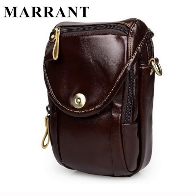Causal cowhide leather men bags small crossbody men messenger bags genuine leather waist pack mini cell phone bag camera bag