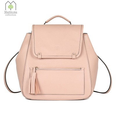 2017 New Tassel Bag Female Mini Backpack Shoulder Bags Rivets Genuine Italian Leather Leisure Backpacks